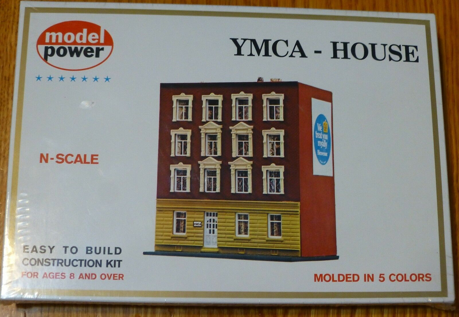 N Scale - Model Power - 1533 - YMCA House - Painted/Unlettered