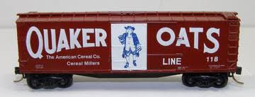 N Scale - Ak-Sar-Ben - 5003/1 - Boxcar, 40 Foot, Double Wood Sheathed - Quaker Oats - 118