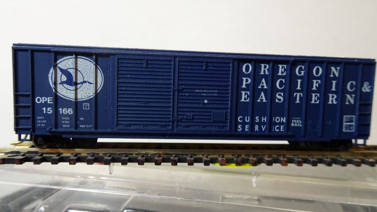 N Scale - Roundhouse - 8345 - Boxcar, 50 Foot, FMC, 5077 - Oregon Pacific & Eastern - 15166