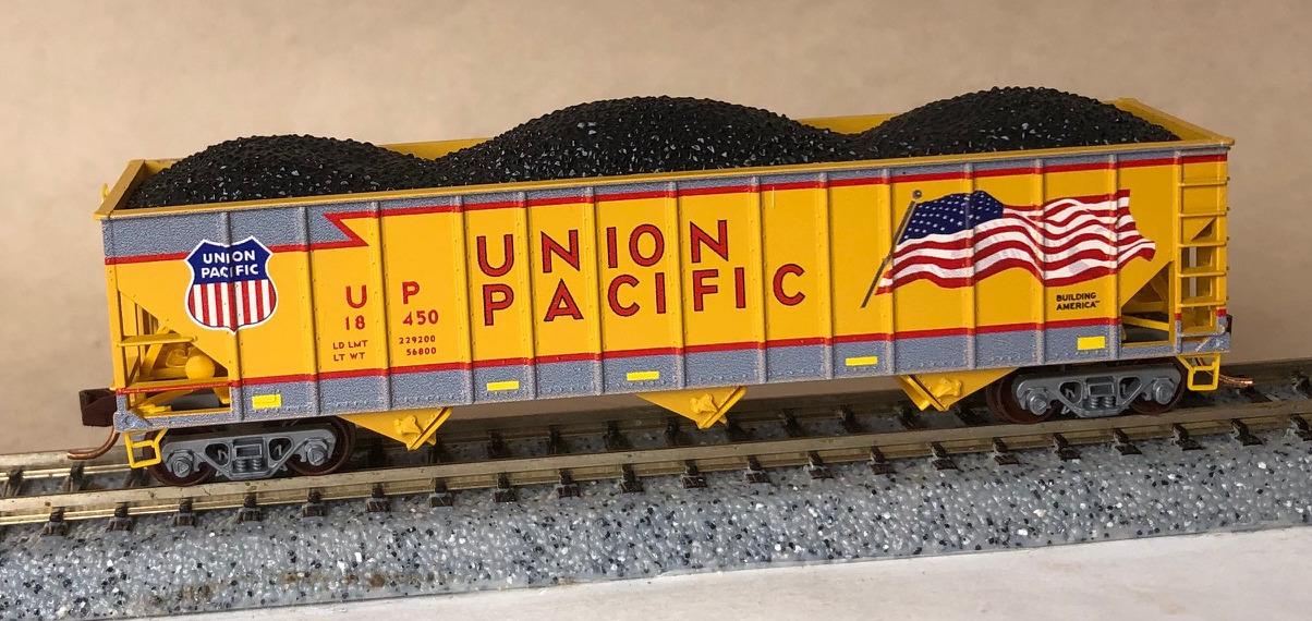 N Scale - Micro-Trains - NSE MTL 17-01 - Open Hopper, 3-Bay, 100 Ton - Union Pacific - 18450