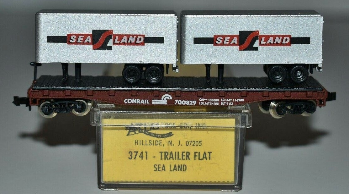 N Scale - Atlas - 3741 - Flatcar, 50 Foot - Conrail - 700829