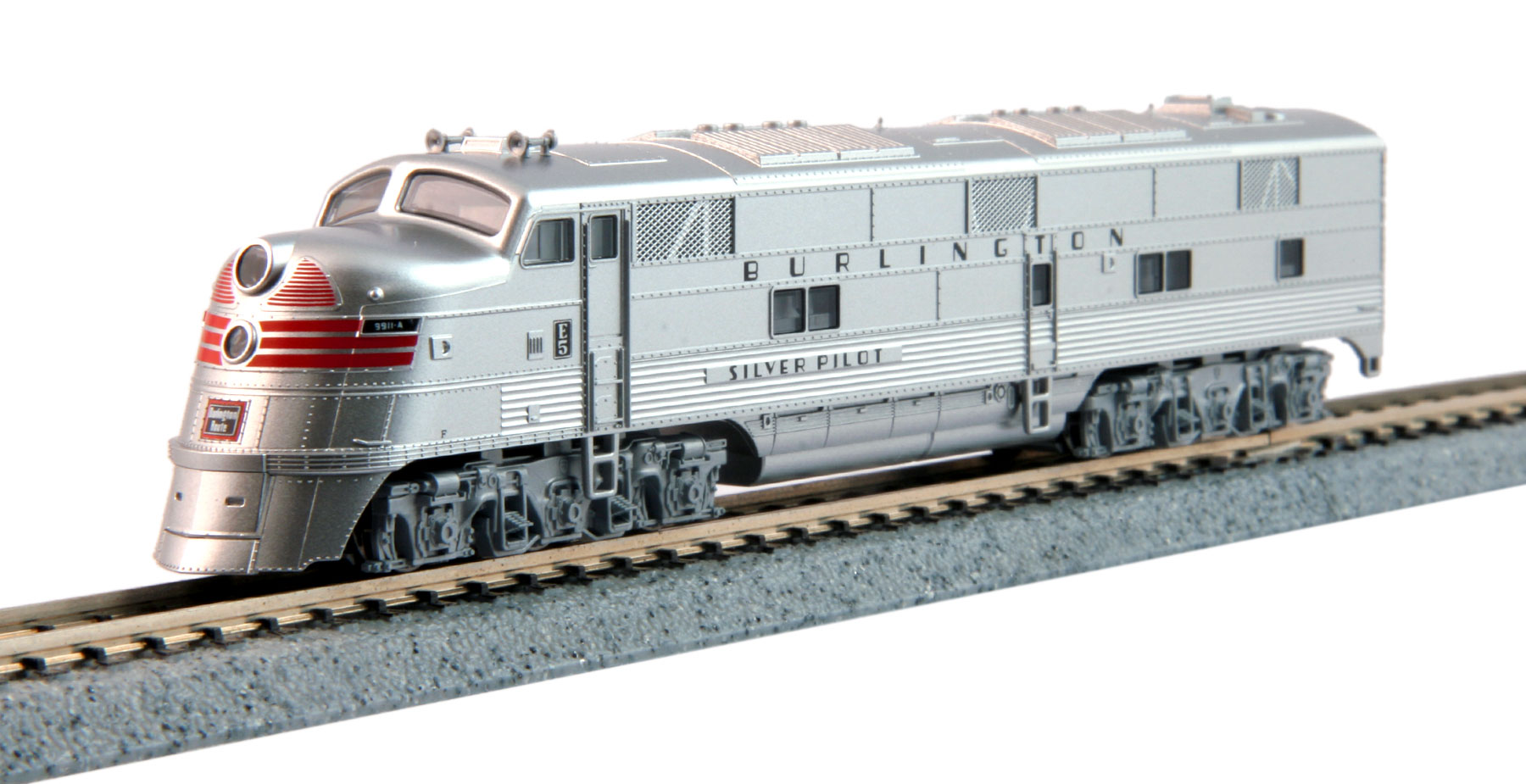 N Scale - Kato USA - 176-5403 - Locomotive, Diesel, EMD E5 - Burlington Route - 9911A