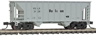 N Scale - Walthers - 932-50142 - Open Hopper, 2-Bay, 100 Ton - Vulcan Materials - 2130