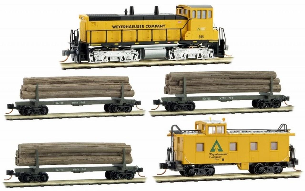 N Scale - Micro-Trains - 993 01 550 - Train Set - Weyerhaeuser