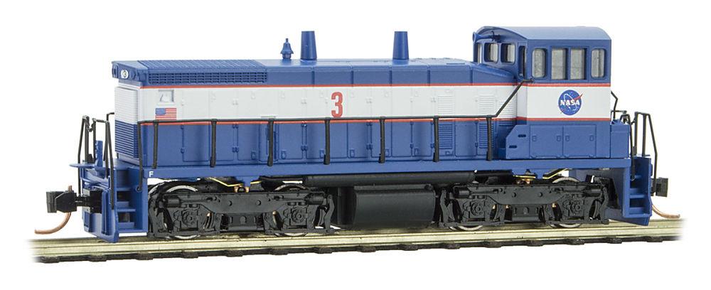 N Scale - Micro-Trains - 986 00 080 - Locomotive, Diesel, EMD SW1500 - NASA - 3