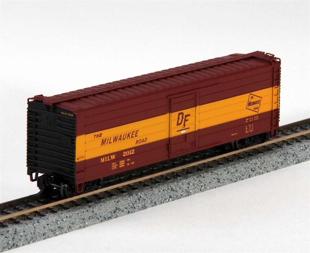 Milwaukee Road Boxcar 50/' Rib Side #2023 Fox Valley Models
