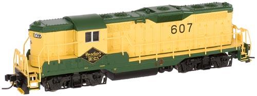 N Scale - Atlas - 48095 - Locomotive, Diesel, EMD GP7 - Reading - 619