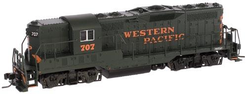 N Scale - Atlas - 48098 - Locomotive, Diesel, EMD GP7 - Western Pacific - 707
