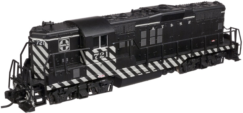 N Scale - Atlas - 40 002 183 - Locomotive, Diesel, EMD GP9 - Santa Fe - 707
