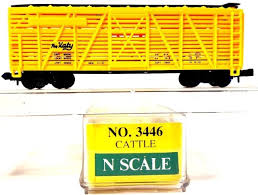 N Scale - Model Power - 3446 - Stock Car, 40 Foot, Wood - Missouri-Kansas-Texas
