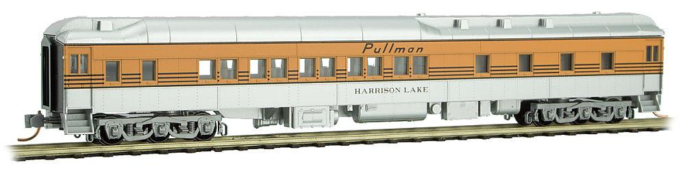 N Scale - Micro-Trains - 141 00 160 - Passenger Car, Heavyweight, Pullman Sleeper 10-1-2 - Rio Grande - Harrison Lake