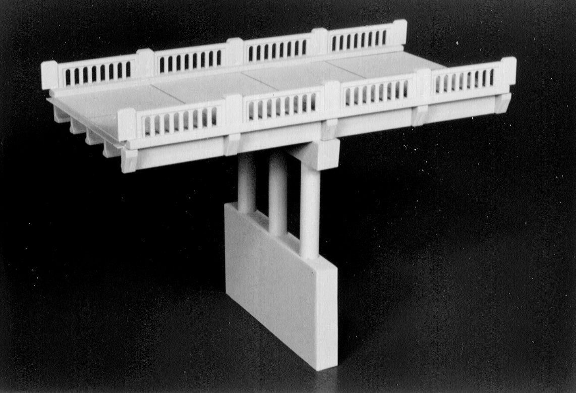 N Scale - Rix Products - 628-0152 - Highway Overpass - Undecorated