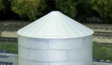 N Scale - Rix Products - 628-0706 - Grain Bin - Undecorated