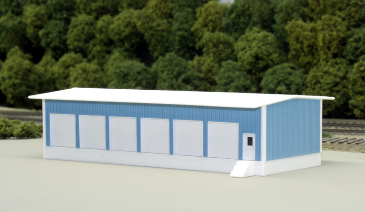 N Scale - Pikestuff - 541-8004 - Prefabricated Metal Building - Undecorated