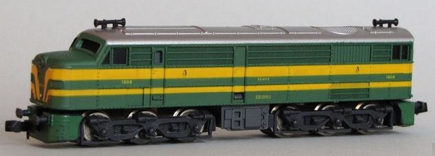 N Scale - Ibertren - 957 - Locomotive, Diesel, Alco DL-500 - Renfe - 1808