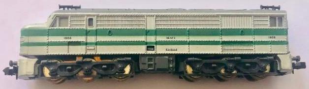 N Scale - Ibertren - 958 - Locomotive, Diesel, Alco DL-500 - Renfe - 1808