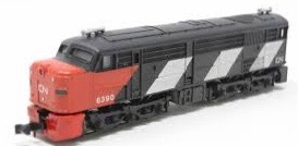 N Scale - Ibertren - 969 - Locomotive, Diesel, Alco DL-500 - Canadian National - 6390