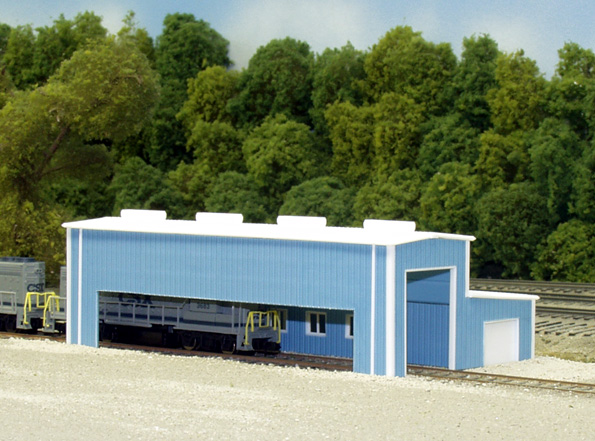 N Scale - Pikestuff - 541-8008 - Prefabricated Metal Building - Undecorated