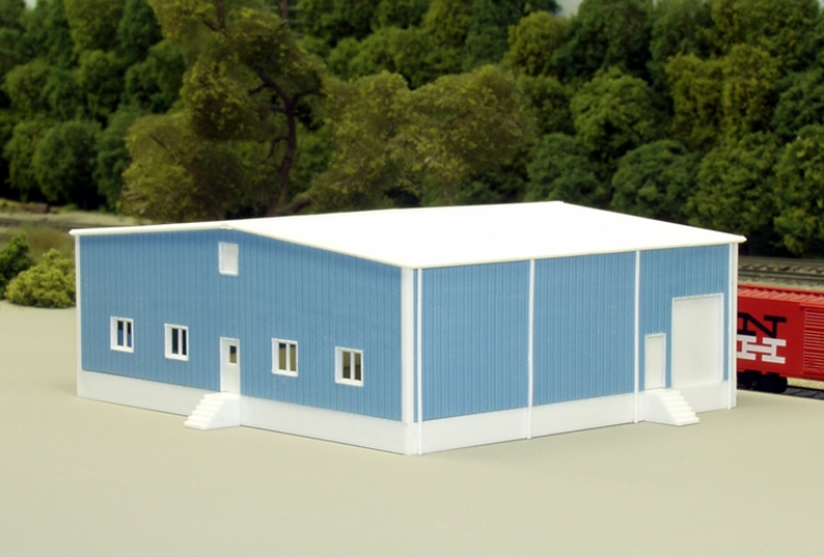 N Scale - Pikestuff - 541-8013 - Prefabricated Metal Building - Undecorated