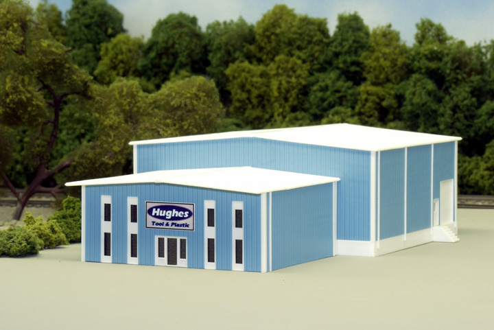 N Scale - Pikestuff - 541-8015 - Prefabricated Metal Building - Undecorated