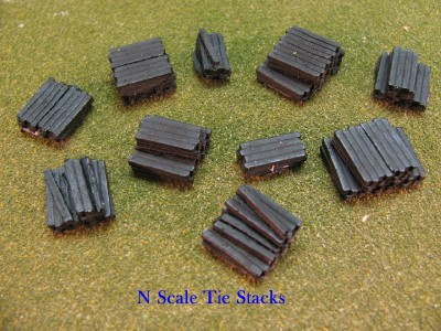 N Scale - DP Model Train Products - 2202 - Loads - Painted/Unlettered - Railroad Ties