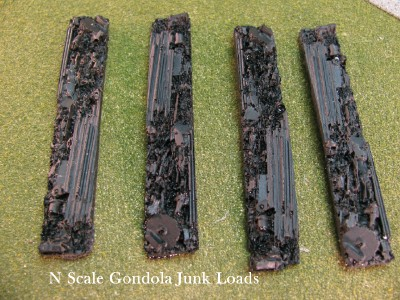 N Scale - DP Model Train Products - 2203 - Loads - Painted/Unlettered - Gondola Junk