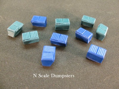 N Scale - DP Model Train Products - 2204 - Loads - Painted/Unlettered - Dumpsters