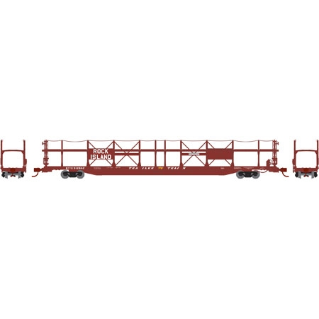 N Scale - Athearn - 14396 - Autorack, Open Side, Bi-Level, F89-F - Rock Island - 912924