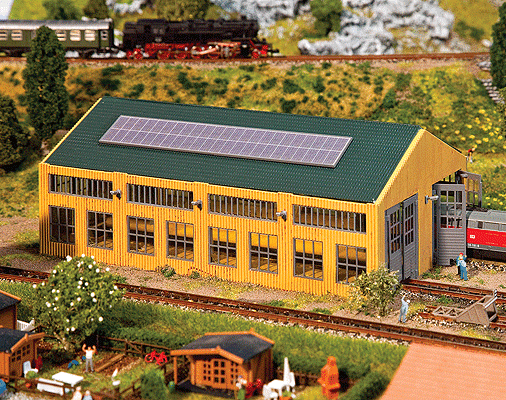 N Scale - Faller - 222110 - Engine Shed - Railroad Structures