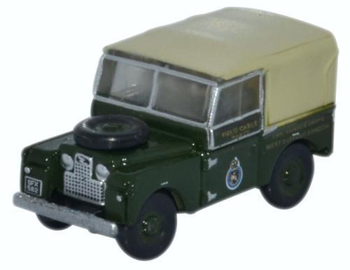 N Scale - Oxford Diecast - NLAN188008 - Automobile, Land Rover, Series I, SWB - Civil Defense - SFX 582