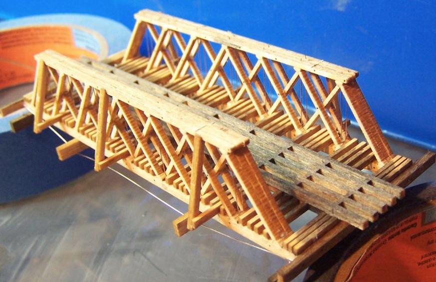 N Scale - RSLaserKits - 3028 - Wood Truss Bridge - Undecorated