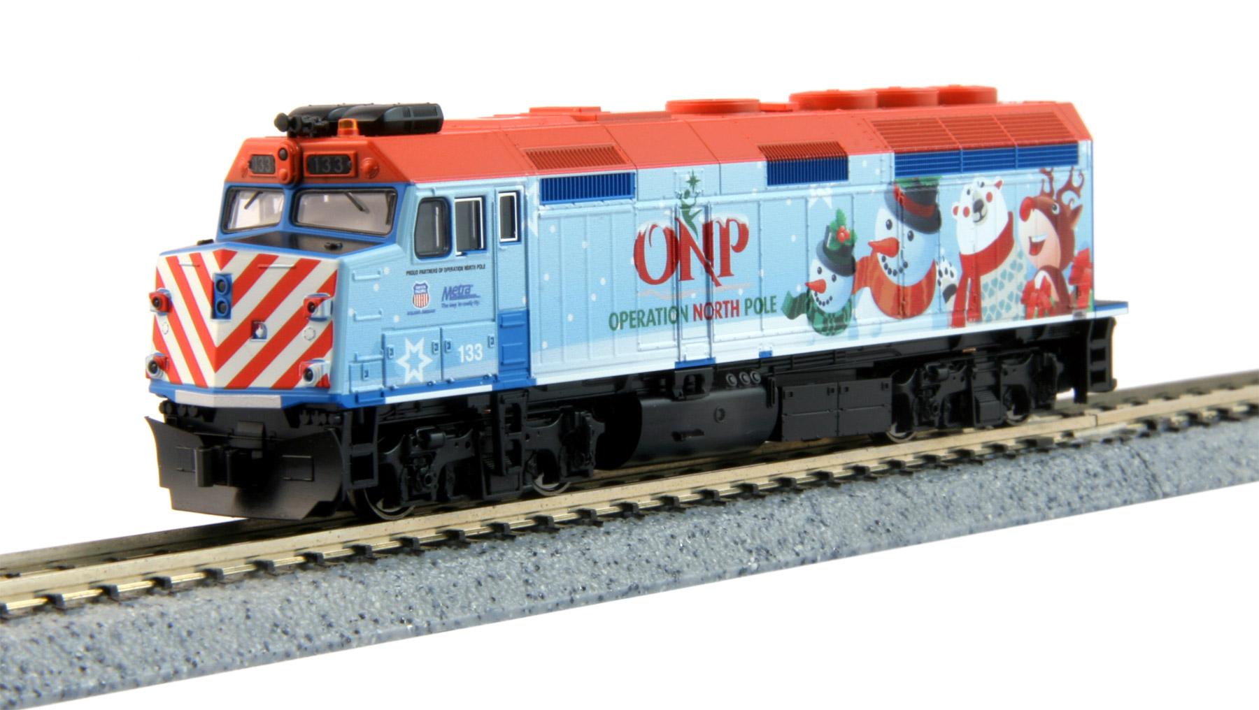 N Scale - Kato USA - 106-2016-A - Locomotive, Diesel, EMD F40PH - Operation North Pole - 133
