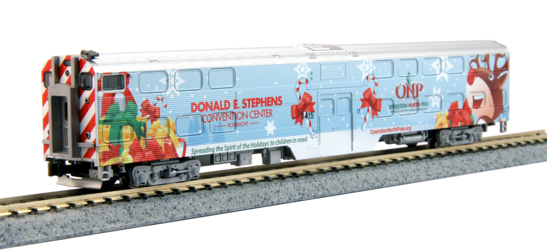 N Scale - Kato USA - 106-2016A-B - Passenger Car, Commuter, Nippon Sharyo Gallery - Operation North Pole - Donald E. Stephens