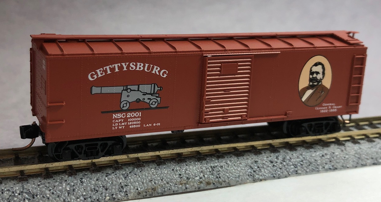 N Scale - Micro-Trains - NSC 01-36 - Boxcar, 40 Foot, USRA Steel Rebuilt - N Scale Collector - 2001