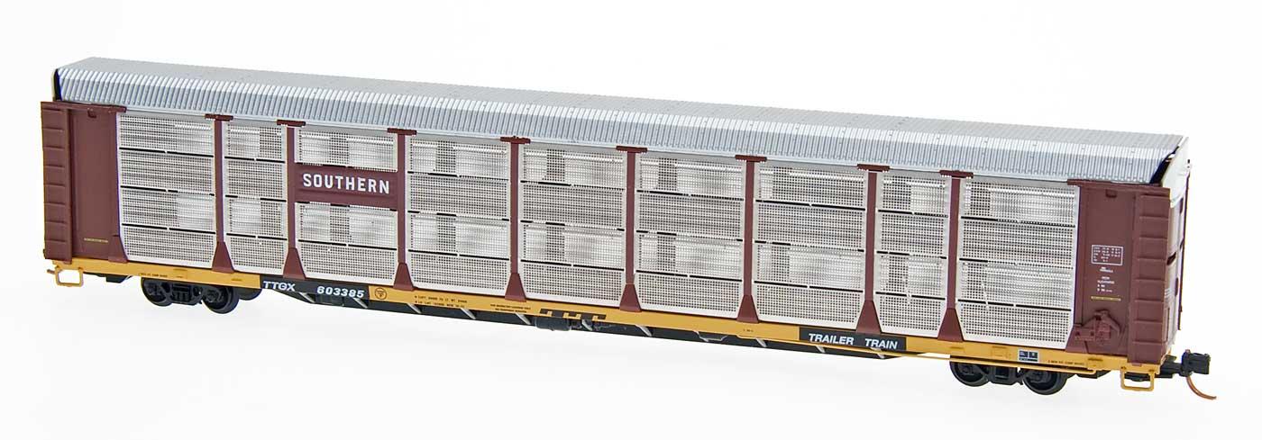 N Scale - Red Caboose - RM-19204-14 - Autorack, Enclosed, Bi-Level - Southern - 603735