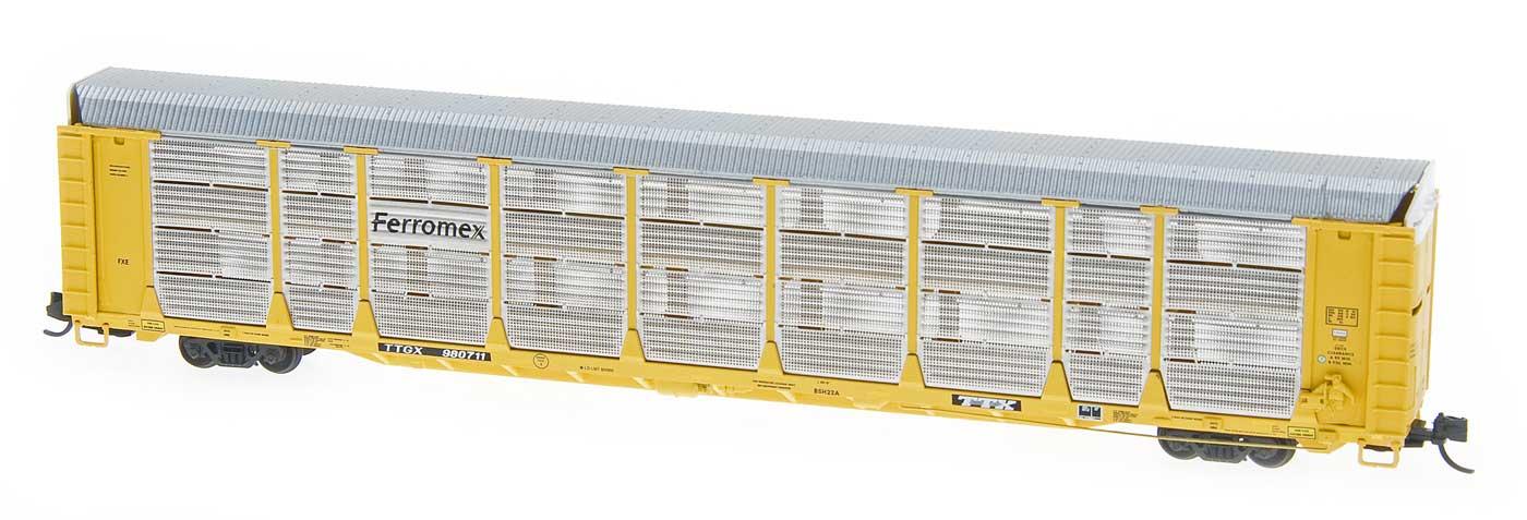 N Scale - Red Caboose - RM-19228-03 - Autorack, Enclosed, Bi-Level - Ferromex - 980767