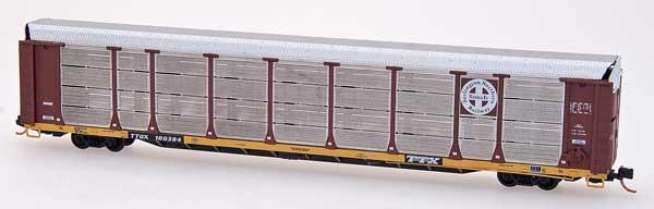 N Scale - Red Caboose - RM-19129-14 - Autorack, Enclosed, Bi-Level - Burlington Northern Santa Fe - 604353