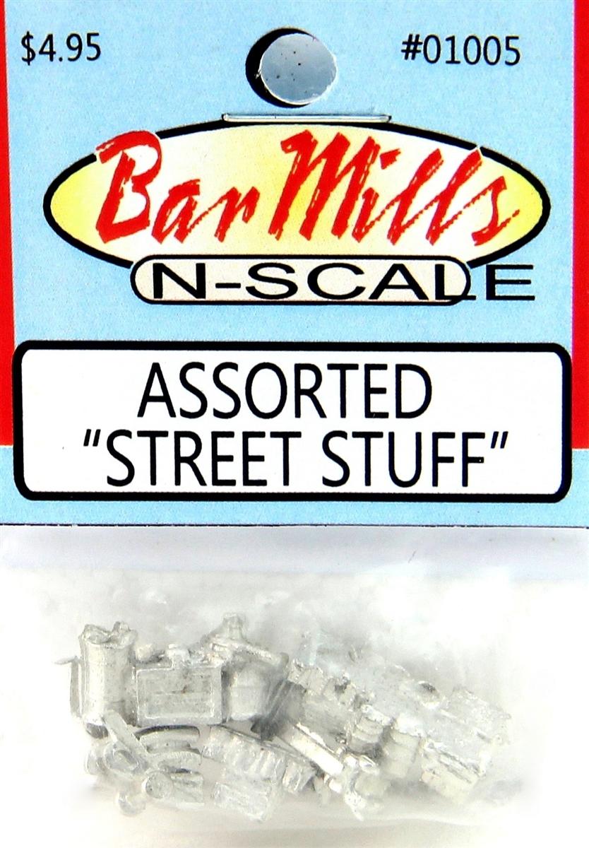 N Scale - Bar Mills - 01005 - Loads - Undecorated - Street Stuff