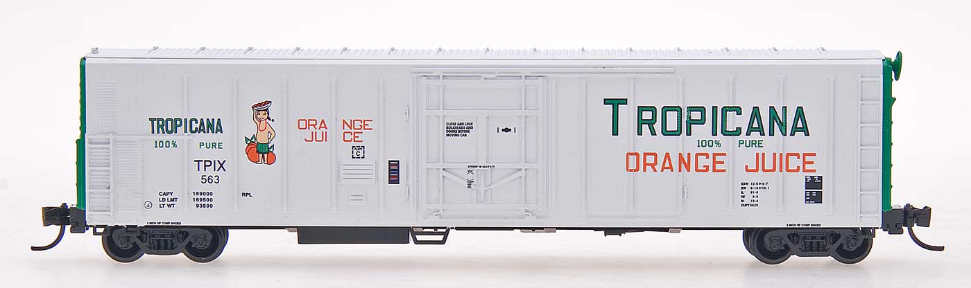 N Scale - Red Caboose - RM-21003-03 - Reefer, 57 Foot, Mechanical, PC&F R-70-20 - Tropicana - 556
