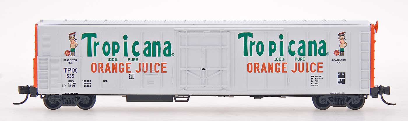 N Scale - Red Caboose - RM-21004-05 - Reefer, 57 Foot, Mechanical, PC&F R-70-20 - Tropicana - 1511