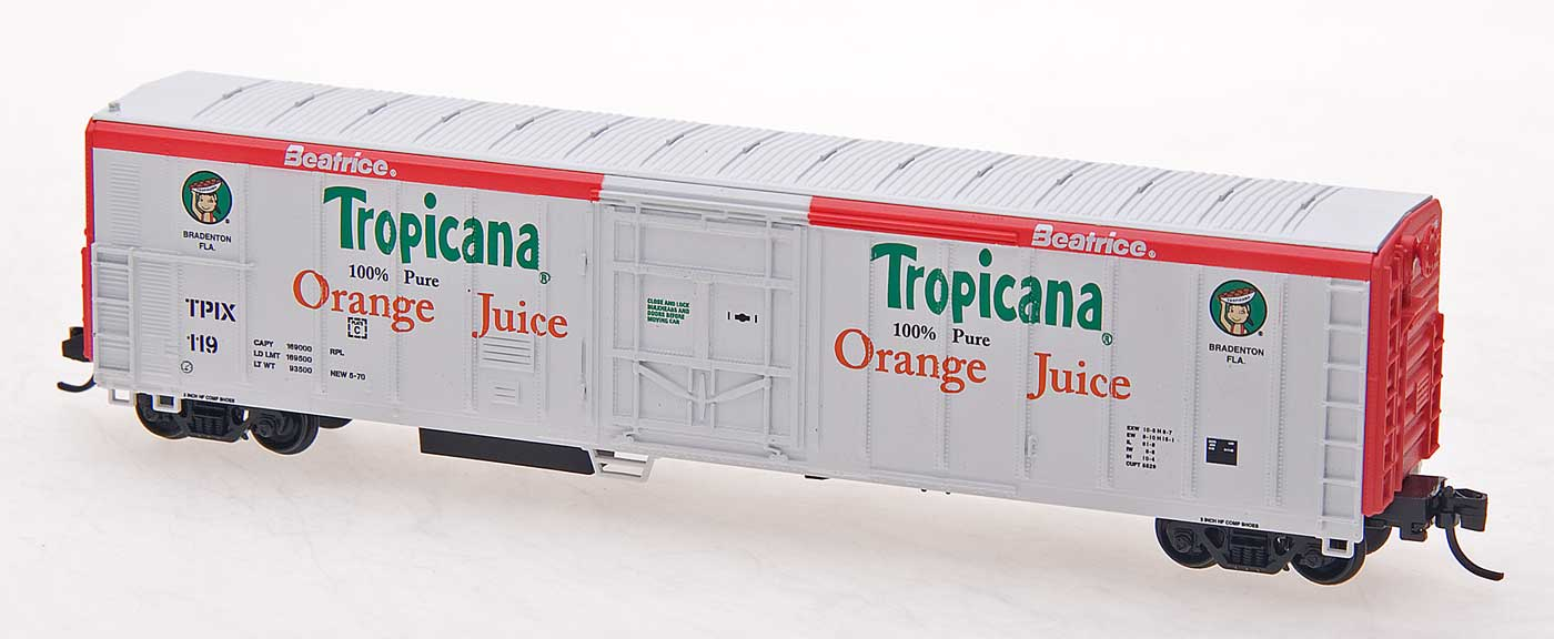 N Scale - Red Caboose - RM-21005-01 - Reefer, 57 Foot, Mechanical, PC&F R-70-20 - Tropicana - 119