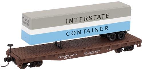 N Scale - Atlas - 37826A - Flatcar, 50 Foot - Pennsylvania - 475498