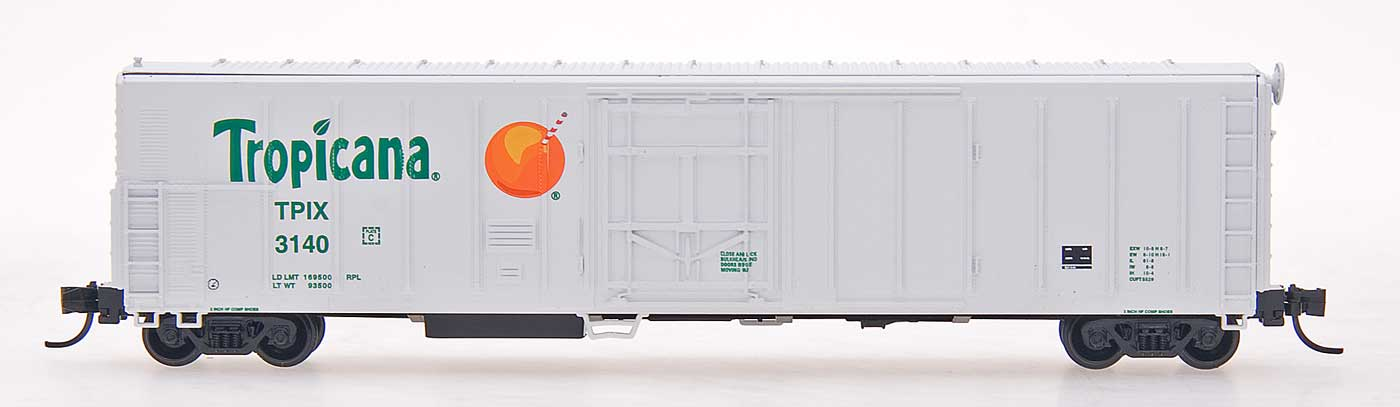 N Scale - Red Caboose - RM-21010-01 - Reefer, 57 Foot, Mechanical, PC&F R-70-20 - Tropicana - 3001