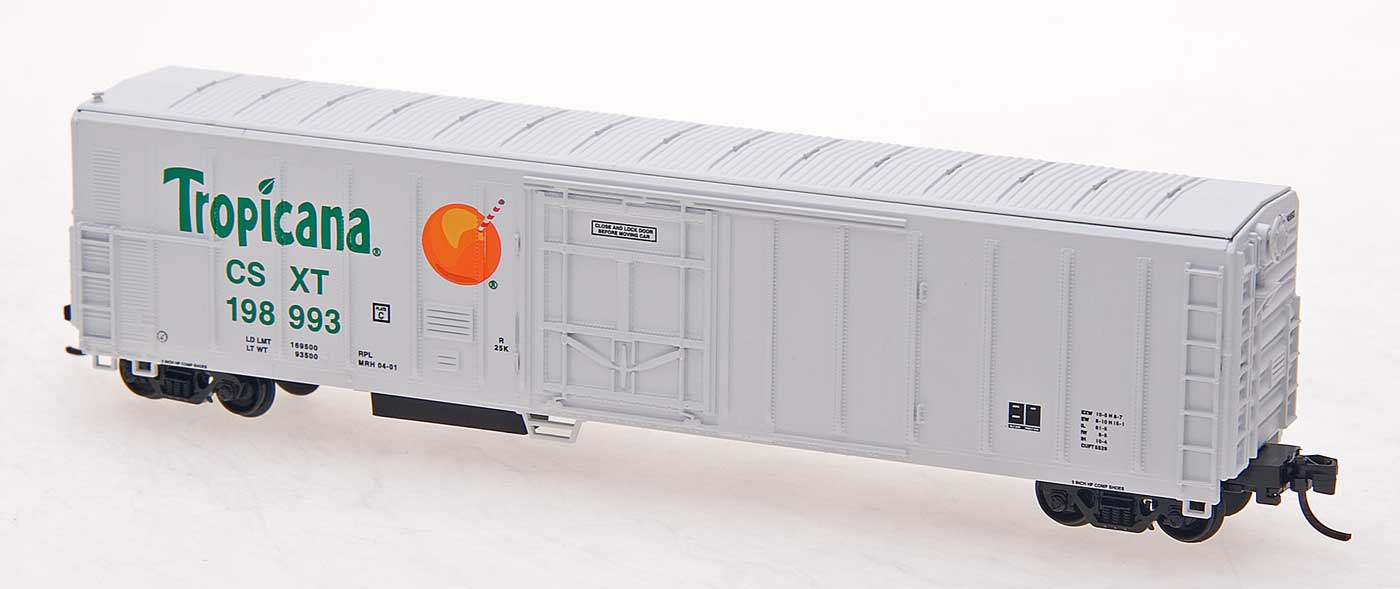 N Scale - Red Caboose - RM-21011-06 - Reefer, 57 Foot, Mechanical, PC&F R-70-20 - Tropicana - 199012