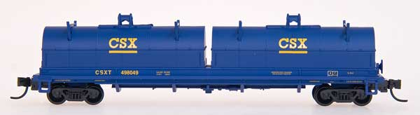 N Scale - Red Caboose - RN-17803-03 - Gondola, Steel Coil, Evans 48 Foot - CSX Transportation - 498037