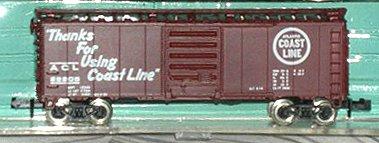 N Scale - Atlas - 3401 - Boxcar, 40 Foot, PS-1 - Atlantic Coast Line - 28205