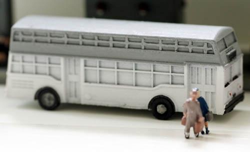 N Scale - Model Tech Studios - JN1093 - Bus - Painted/Unlettered - Double Decker Bus Kit