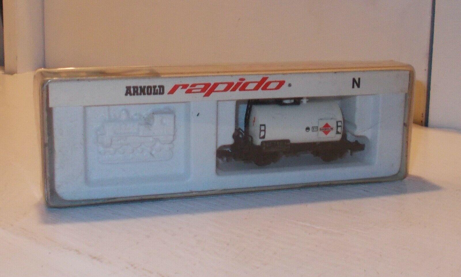 N Scale - Arnold - 0434 - Tank Car, No Dome, 2-Axle - Gasolin - 505110 Hamburg
