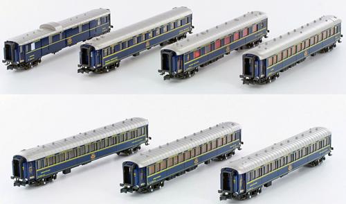 N Scale - Kato Lemke - K23217 - CIWL 7-Car Orient Express - Compagnie Internationale des Wagons-Lits