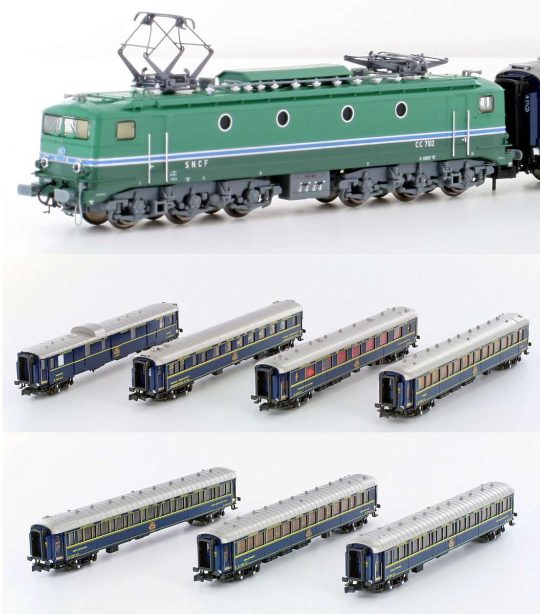 N Scale - Kato Lemke - K23217-1 - CIWL Loco with 7 Cars Orient Express - Compagnie Internationale des Wagons-Lits